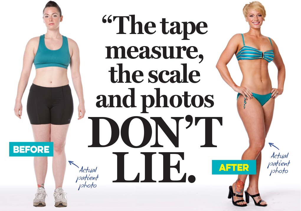 The tape measure, the scale and photos don't lie.
