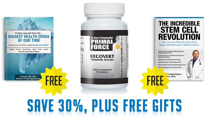 Dr. A Sears Primal Force Recovery Metabolic Rescue Save 30%, Plus FREE Gifts